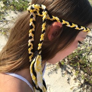 Other - MollyBobBraids Handmade Braided Headband 💛🖤💛
